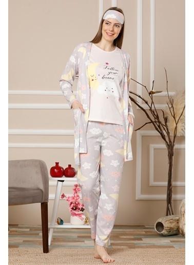 Akbeniz Pijama Takım Lila